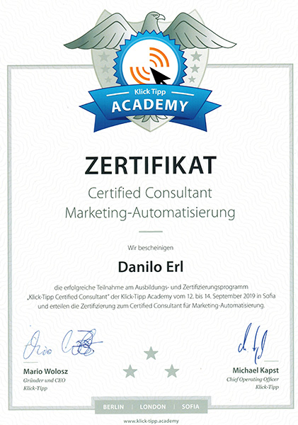 Danilo-Erl-Certified-Consutant-Marketing-Automatisierung